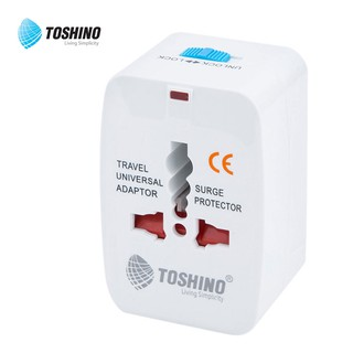 Toshino  ปลั๊กไฟ ปลั๊กแปลงขาทั่วโลก 4 IN 1 Universal Travel Adaptor with Surge Protection รุ่น D