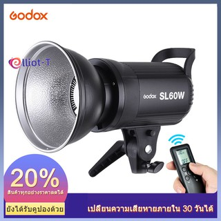 Godox SL-60W 5600K 60W High Power LED Video Light Wireless Remote Control with Bowens Mount for Photo Studio Photography