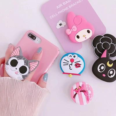 【COD】Pop Sockets Phone Holder Cartoon Doraemon Pink Panther Stand Car Mount Phone Access