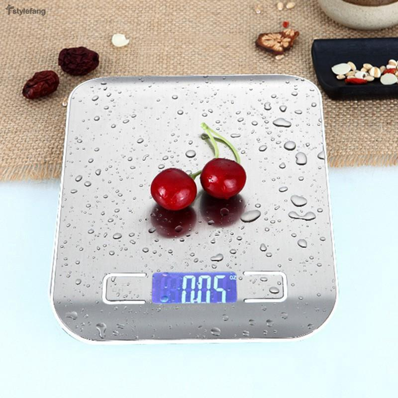 Review 11lb 5kg Multifunction Digital Kitchen Food Scale, Stainless Steel Multifunction