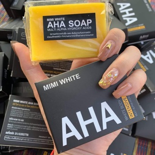 Review AHA soap สบู่AHA MIMIWHITE