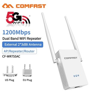 The best Comfast ย่านความถี่ 5G/2.4G 1200Mbps dual band WIFI Repeater WR755AC