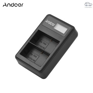Tops Andoer LCD2-BLF19 LCD Dual Camera Battery Charger for Panasonic Lumix GH3 GH4 GH5 DMC-GH3 DMC-GH4 DMC-GH5 C