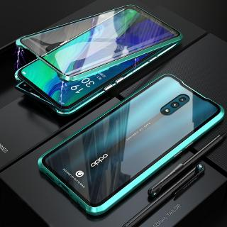 Review OPPO Reno Ace Reno 10X Zoom Z Magnetic Case OPPO F11 Pro R17 Cover Front + Back Tempered Glass Metal Case