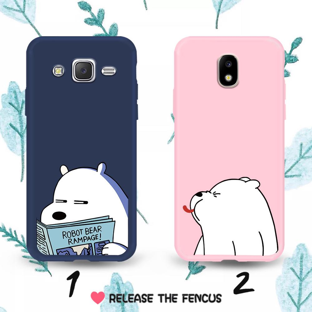 ❄️Samsung Galaxy J5 J7 2016 J5 J7 Pro J5 J7 Prime Couple Cartoon Bear Soft C