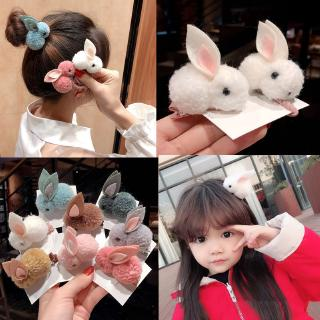 Cute rabbit hair rubber band Korean cartoon animal hair rope hairpin dual-use