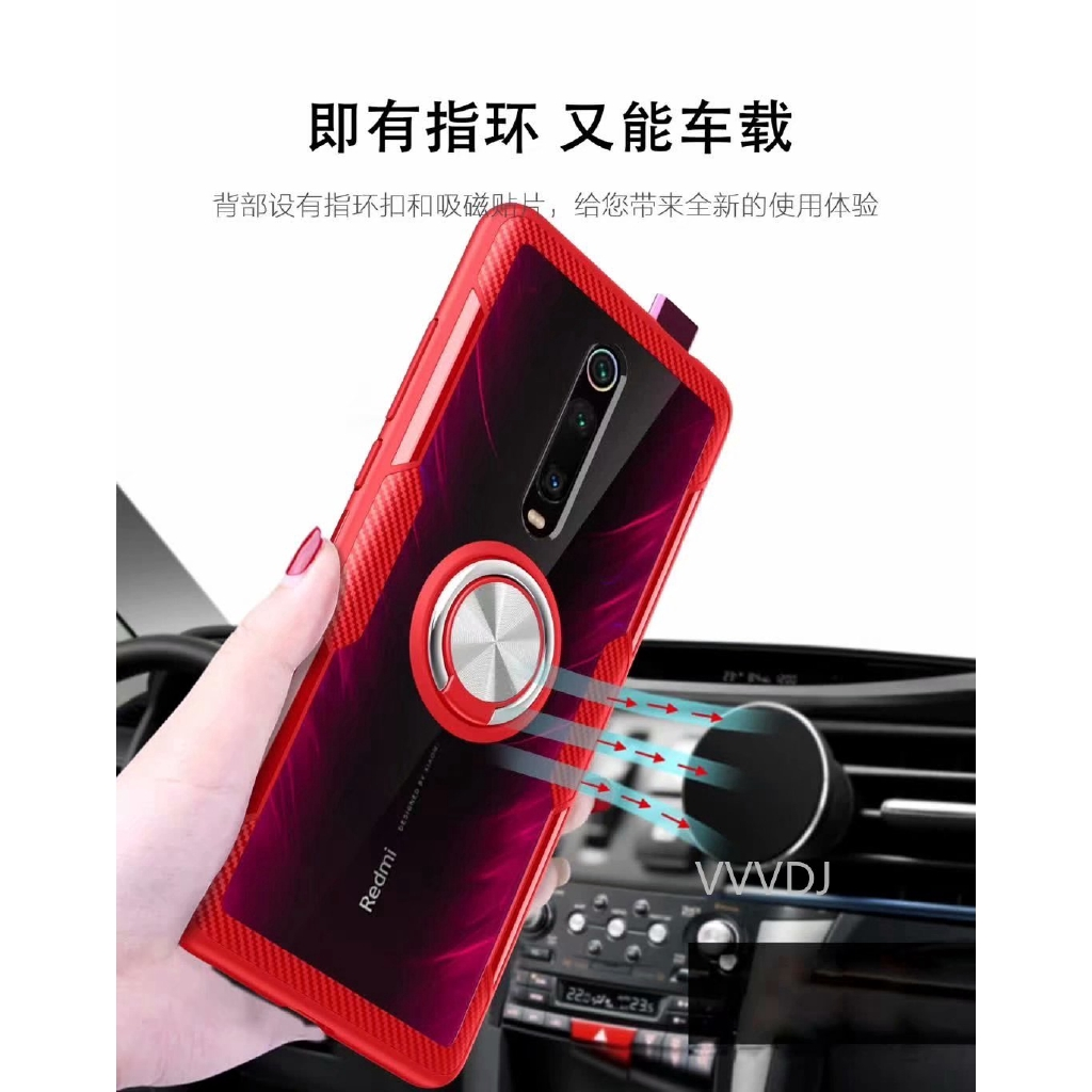 Image # 4 of Review Xiaomi Mi 9T Pro Mi9TPro Case Hard With Ring Stand Magnet Transparent Protective Back Cover case xiaomi mi 9t mi9t shell