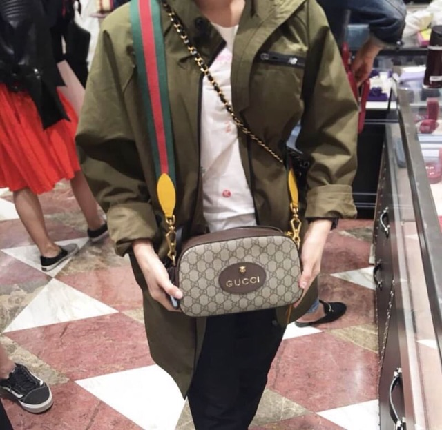 Image # 4 of Review Gucci GG Supreme Crossbody Bag With Strap