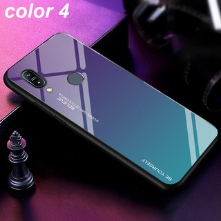 Image # 4 of Review ASUS Zenfone Max Pro M1 M2 ZB601KL ZB602KL ZB631KL ZB633KL Fashion Design Mixed Color Glass Back Cover Case