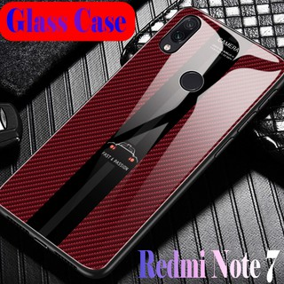 Review Porsche Colorful Fashion Casing Anti-Explosion Cover 9H Tempered Glass Case Xiaomi Redmi Note 7 Anti-Scratch Hard Cover