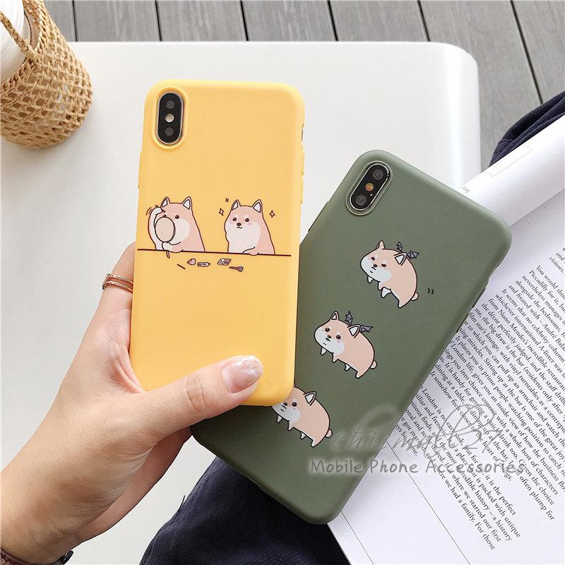 Review กรณี Cute Couple Corgi Dog Candy Casing iPhone 5 5S SE 6 6s Plus 7 8 Plus X XR XS Max Cover Case