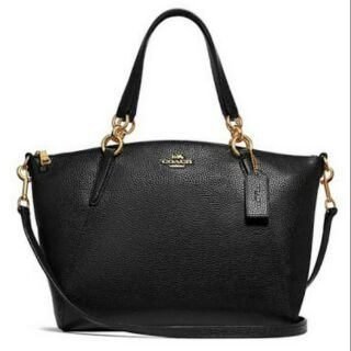 Review 👜SMALL KELSEY SATCHEL COACH👜 🍭BLACK/IMITATION GOLD
