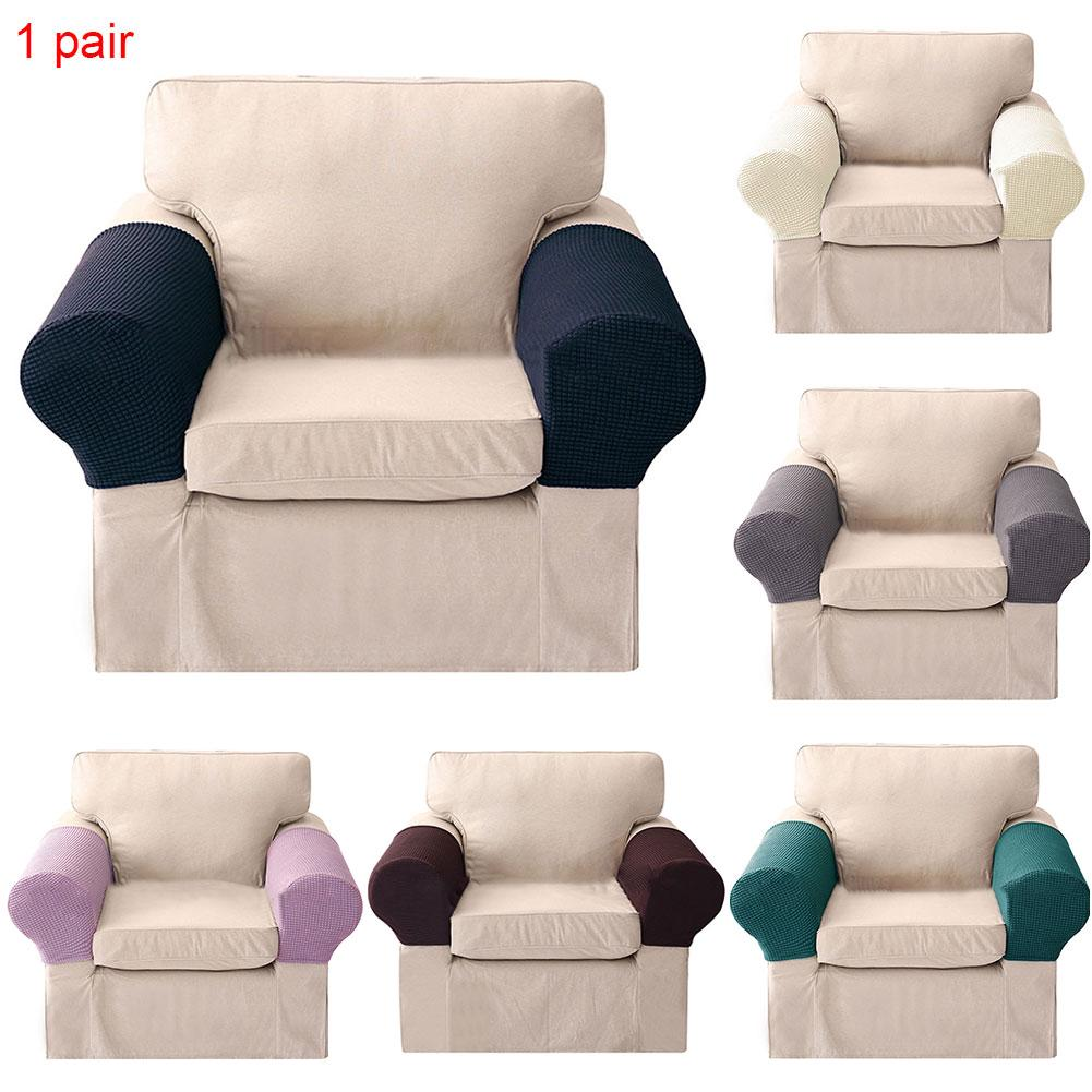 Review Anti Slip Arm Rest Cushion Easy Clean Elastic Extra Soft Fashion Stretchable Protective Home Decor Sofa Cover