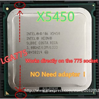 Review Lntel xeon X 5450 3.0 GHz 12M 133 Hz CPU equal to lga775 Core 2 Quad Q 9650 CPU