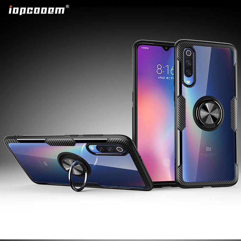 Image # 0 of Review Xiaomi Mi 9 Case Mi9 SE Case Shockproof Armor Tough Transparent Magnetic Ring Stand Hard Cover