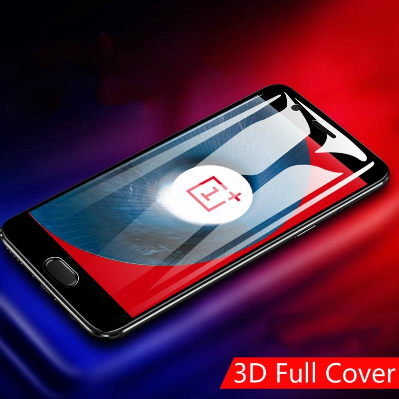Review (2Pcs) Oneplus 5 5T 3 3T Full Cover Tempered Glass Film 3D  Screen Protection