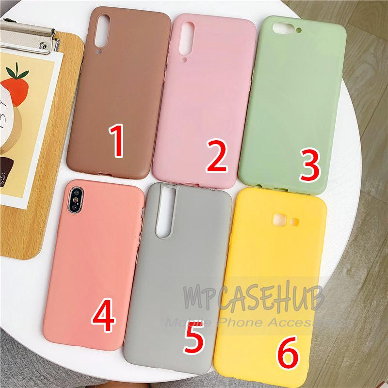 Review กรณี Casing Soft Case Samsung A7 2018 J4 Plus J4+ A20 A30 A50 Pastel Color Plain TPU Matte Cover