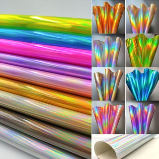 3D Special Fabric Colorful Holographic Rainbow Laser PU Leather Sheets Laser Fabric DIY for Bags/Wallet/
