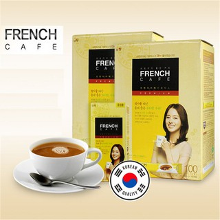 Review Korean Premium French Cafe Instant Coffee Mix (100 Sticks) by Namyang
