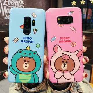 Review เคส Samsung Galaxy Note 10 S7 Edge S8 S9 S8+ S9+ S10 S10+ S10e Note 8 Note 9 Cartoon Brown Bear Soft Case