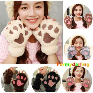 Review 💕Halloween Fluffy Bear/Cat Plush Paw/Claw Glove Novelty Design