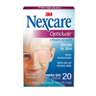 Review Nexcare 3M opticlude eye patch gentle to skin พลาสเตอร์ปิดตา
