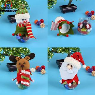 Review Christmas Doll Canister Nut Milk Powder Container Candy Jar Tea Coffee Pot