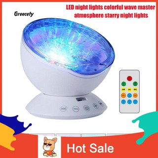 Review ◆Ready USB Rotary Ocean Wave Starry Sky LED Projection Night Light Lamp Bedroom Decor