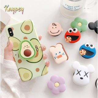 Pop socket cartoon kaws Avocado snoopy Sesame Street Silicone mobile phone bracket phone h