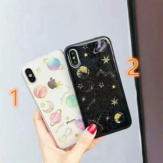 Review ****COD Avalible Space Bling Glitter Stars Moon Phone Casing For iPhone 7 6 6s 8 Plus X