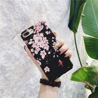 Review Cherry Blossoms Hard Matte Protective Covers Case for iPhone 6 6s 7 8 Plus X 6plus 7plus 8plus