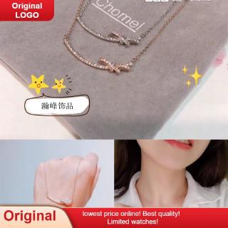 2020 official website overseas chomel necklace women's smiling face bow cute simple all-match choker hot