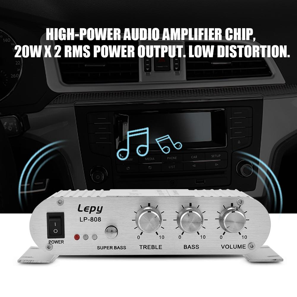 2 Channel Stereo Bass Auto Car Home Audio Power Amplifier