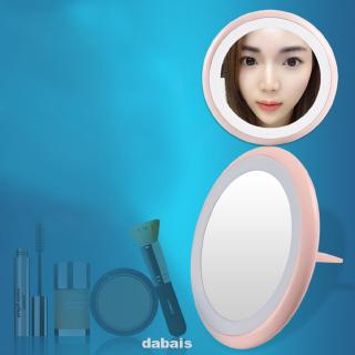 Review Makeup Mirror Foldable LED Lighting Adjustable Brightness Multifunctional Easy Operate Portable USB Rechargeable
