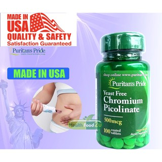 Review Puritan's Pride Chromium Picolinate 500 mcg Yeast Free/ 100 Tablets