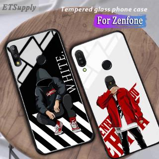 Review Zenfone Max Pro M1 M2 ZB631KL ZB601KL ZB602KL Glass Case Full Coverage Hip Hop Sup off white Cover Casing