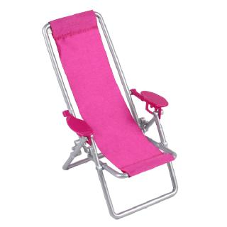 Review Dollhouse Furniture Foldable Deckchair Lovely Miniature Lounge Beach Chair for 11.5in dolls -YA