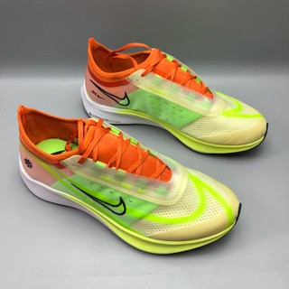 Review Nike zoomx VAPORFLY Next % รองเท้าวิ่งสีเขียวเรืองแสงสีส้ม