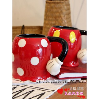 Review \nMickey Minnie has a big belly cartoon shape cute ceramic cup mug cup coffee cup