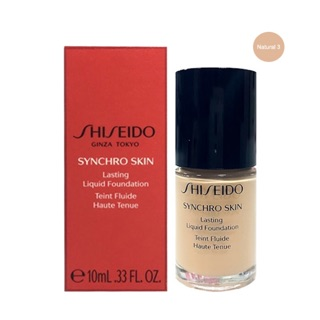 Review (แท้💯)✅ Shiseido Synchro Skin Lasting Liquid Foundation 10ml (In Box)