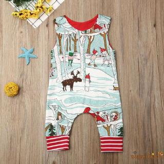 Image # 5 of Review SgmNewborn Baby Girl Boy Christmas Costume Santa Romper Jumpsuit Bodysuits Clothes Xmas Outfits