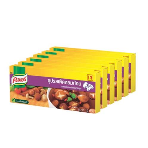 คนอร์ ซุปรสเห็ดหอมก้อน 120 กรัม (แพ็ค 6) Knorr UNILEVER