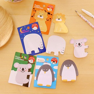 Random 1pc Cute Lion Koala Penguin White Bear Sticky Notes  Cartoon Animals Notepad Sticker Memo Pad Bookmark St