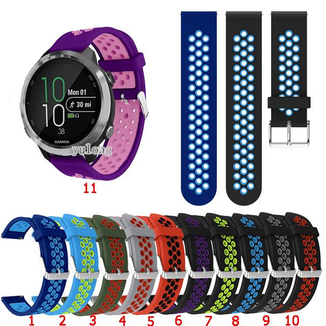 Review สาย Silicone Band Replacement Strap for Garmin Forerunner 645 245 245M