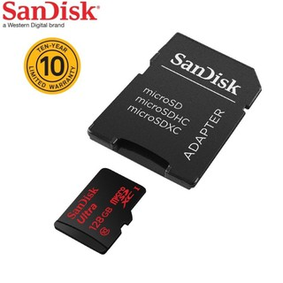SANDISK microSD Ultra 128GB, 80MB/s read, C10, with SD adaptor