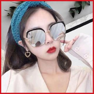 2020 new sunglasses women's Korean-style Internet celebrity same large frame sun glasses long face round face slimming UV-resistant glasses