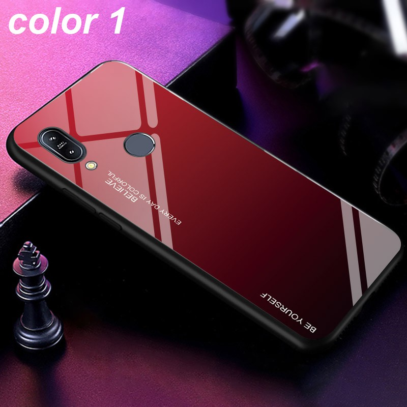 Image # 6 of Review ASUS Zenfone Max Pro M1 M2 ZB601KL ZB602KL ZB631KL ZB633KL Fashion Design Mixed Color Glass Back Cover Case