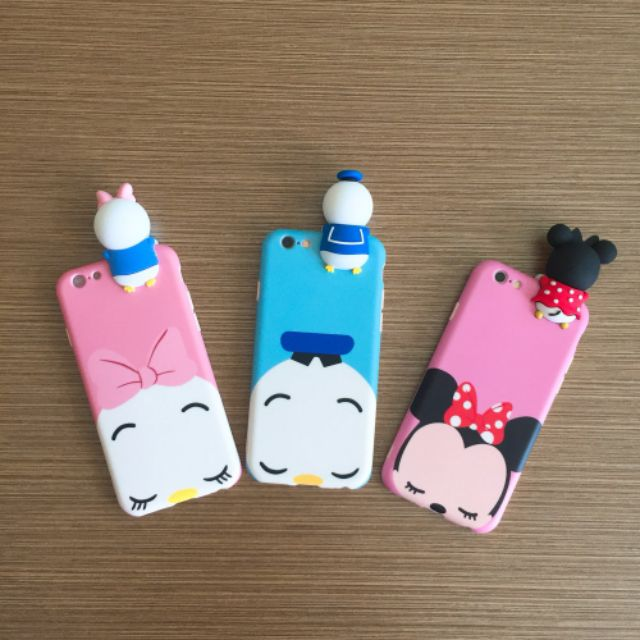 Image # 8 of Review เคส Huawei P9  P9plus P10plus iphone 6 6s 6plus 7plus vivo V5s ฝาหลังทีพียูการ์ตูนปีนจอ Mickey Minnie Mouse Donald Duck