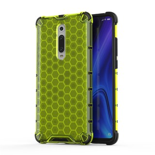 Review Xiaomi Mi 9T Redmi K20 Pro Case Clear Hard Cover Honeycomb Silicon Soft Edge Drop Resistant