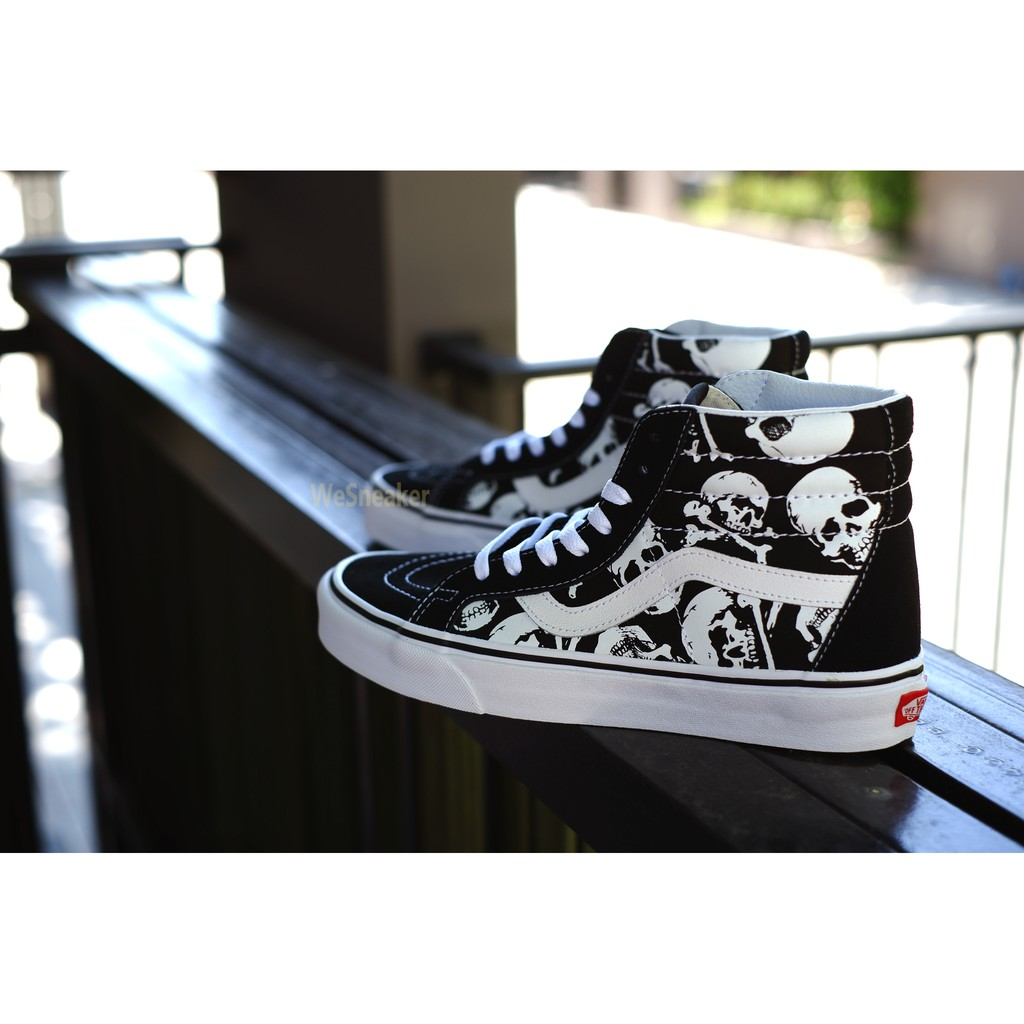 Image # 2 of Review 【VANS】SK8 (Hi) - Skulls/Black/True White การันตีของแท้ 100% by www.WeSneaker.com : VANS Authorized Online Dealer